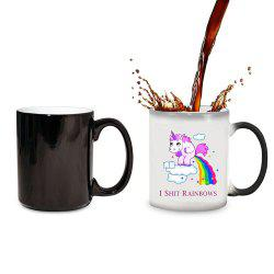 Cute Style Magic Heat Sensitive Color Changing Coffee Mug -