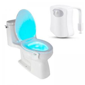 8 Color LED Motion Sensing Automatic Bathroom Toilet Night Light -