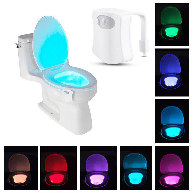 Affordable 8 Color LED Motion Sensing Automatic Bathroom Toilet Night Light