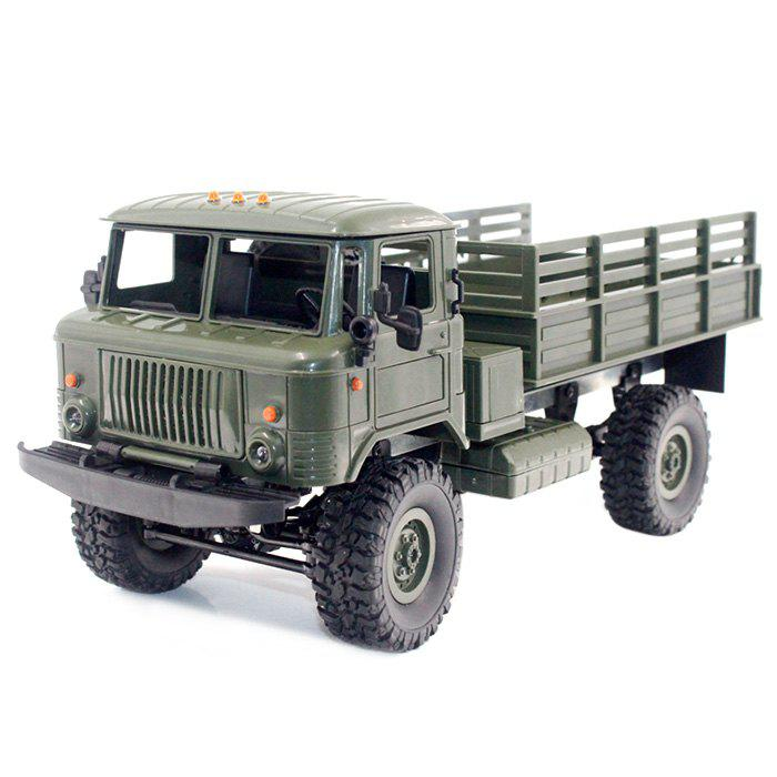 Cheap WPL B - 24 1:16 2.4G Mini Off-road RC Military Truck RTR Four-wheel Drive / 10km/h Maximum Speed