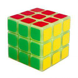 YJ 57mm 3 x 3 x 3 Fluorescence Smooth Speed Magic Cube Puzzle Toy -