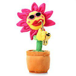 Funny Music Dancing Electronic Plush Sunflower Music Toy for Christmas Party Friends Gift -