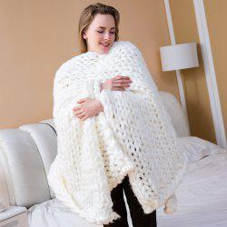 Handmade Knitted Chunky Blanket Super Thick Polyester Wedding Anniversary Gift Home Decor -