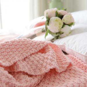 Warm Knitting Thread Tassel Blanket Home Decor -