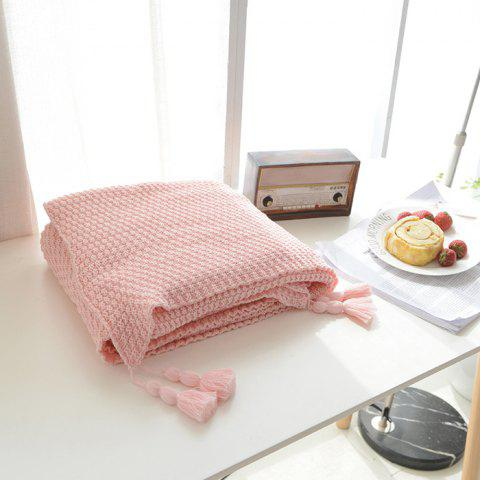 Buy Warm Knitting Thread Tassel Blanket Home Decor