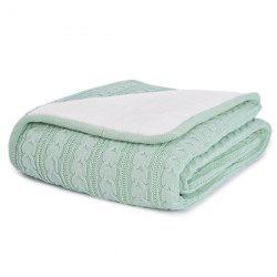 Simple Warm Pure Color Thickening Knitted Soft Blanket -