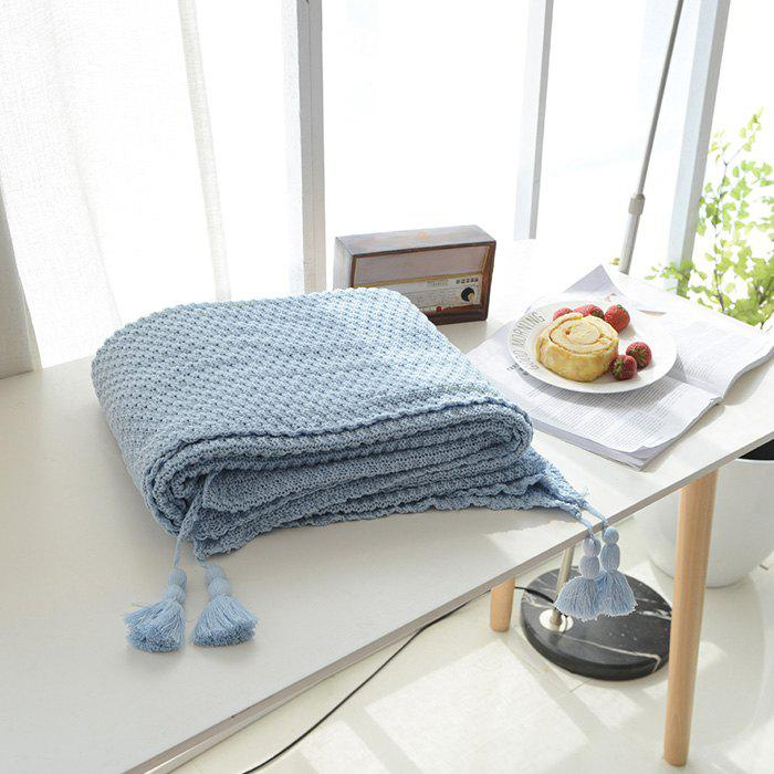 Best Warm Knitting Thread Tassel Blanket Home Decor