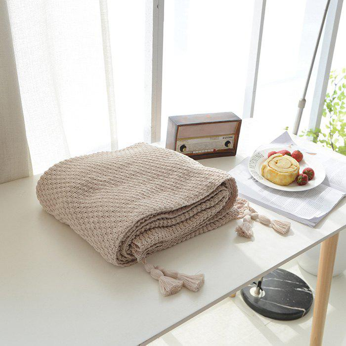 New Warm Knitting Thread Tassel Blanket Home Decor