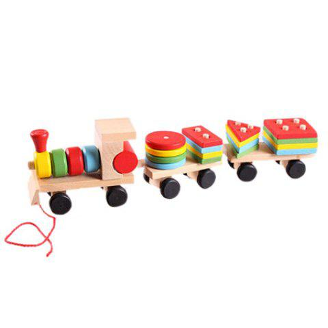 Environmental Protection Early Education Toy Train Building Block