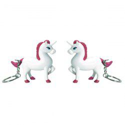 BS - 425 Cartoon Unicorn Keychain with Light Sound Decoration Toy Gift 1pc -