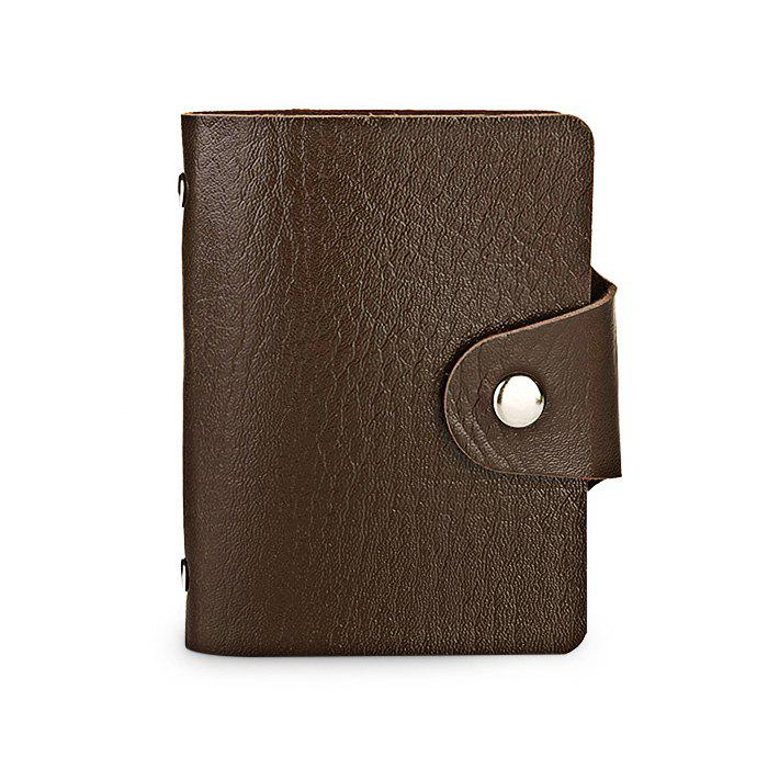 Shop DUDINI Stylish Business PU Credit Card Holder