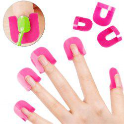 XM Nail Polish Stencil Kit 10-size Spill-proof Manicure Protector Tools -