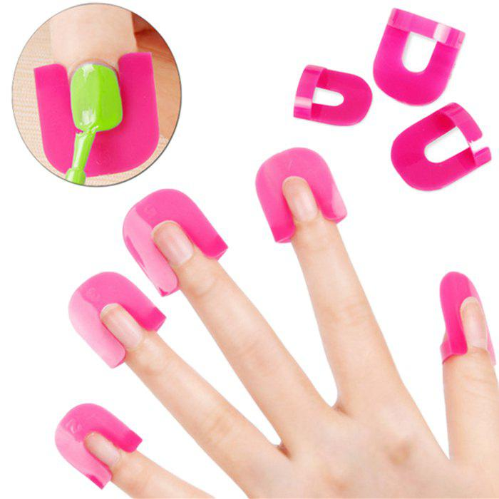 Affordable XM Nail Polish Stencil Kit 10-size Spill-proof Manicure Protector Tools