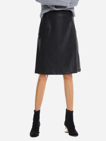 Affordable Washed Leather Skirt