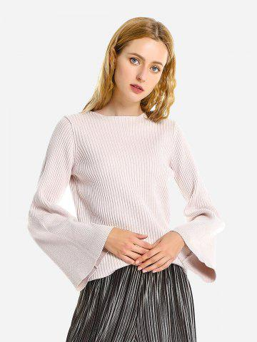 Belled Sleeve Pullover Sweater