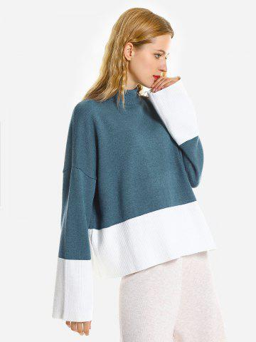 ZAN.STYLE Loose Pullover Sweater - BLUE - ONE SIZE