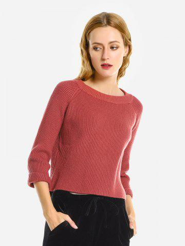 Crew Neckline Loose Sweater