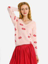 V Neck Wool Pullover Sweater -