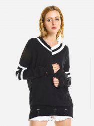 ZAN.STYLE V-Neck Casual Loose Sweater -