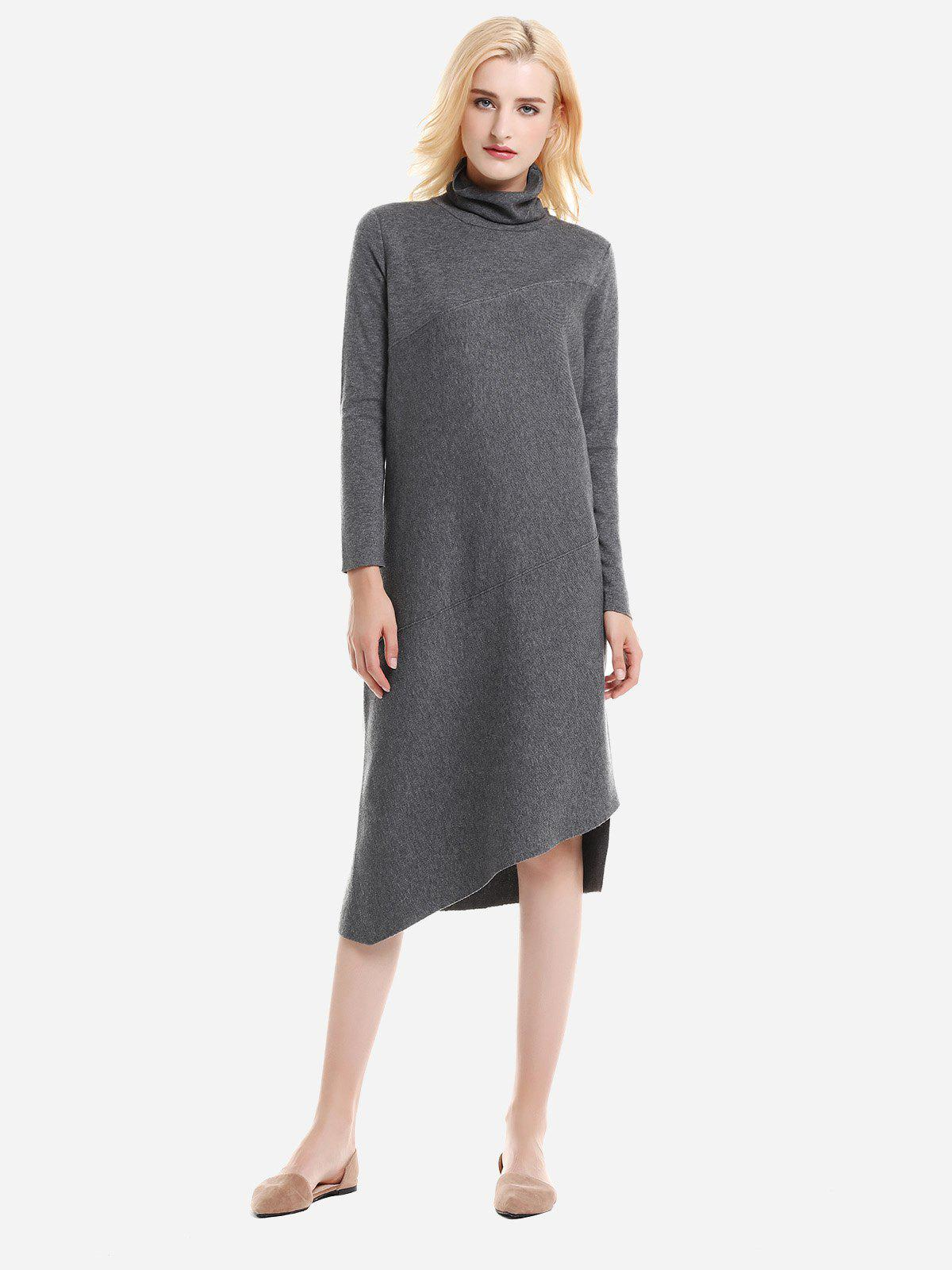 Fancy ZAN.STYLE Turtleneck Collar Dress
