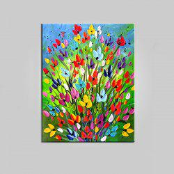 Mintura Hand Painted Flowers Oil Painting Canvas Hanging Artwork -