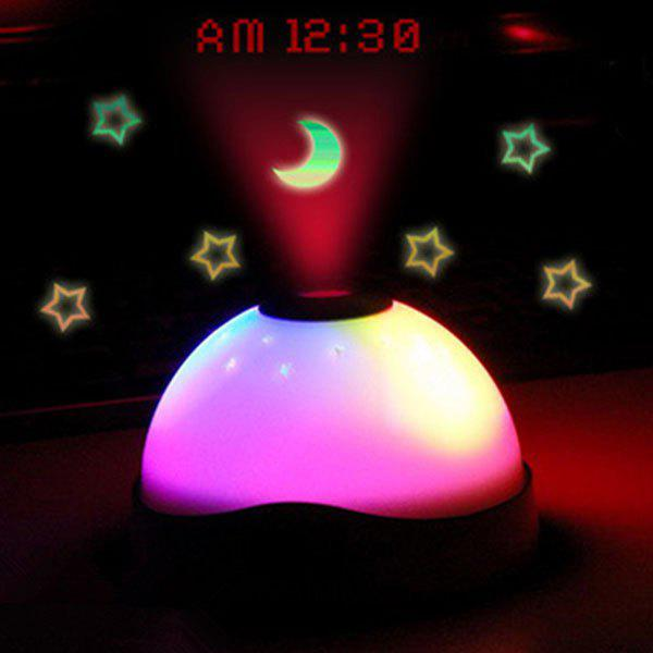 Latest Charming LED Stars Moon Projection Light with Clock