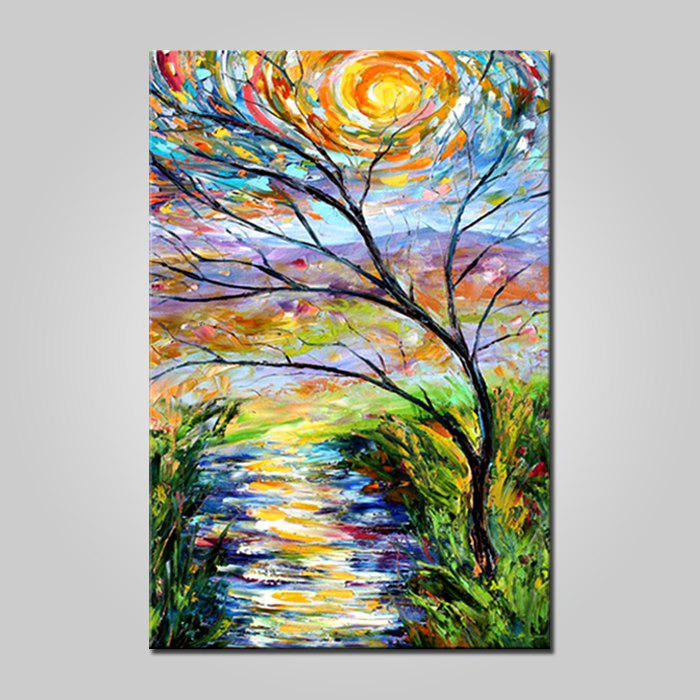 Unique Mintura MT161007 Hand Painted Oil Painting Tree View Pattern Canvas Artwork for Wall Decor