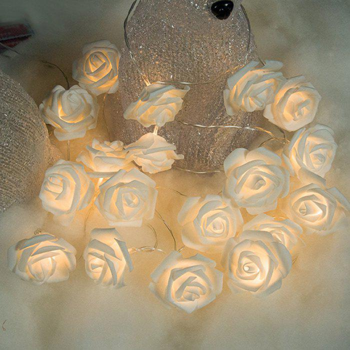 Unique XM Waterproof 20-LED Rose Shape String Lights for Holiday Wedding Gardens Decoration
