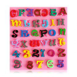 Facemile Figure Letter Style Silicone Fondant Chocolate Molds for Cake Decoration -
