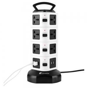 Houzetek JW104 4 Layer Vertical Power Strip -