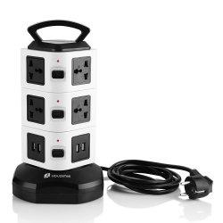 Houzetek JW103 3 Layer Vertical Power Strip -