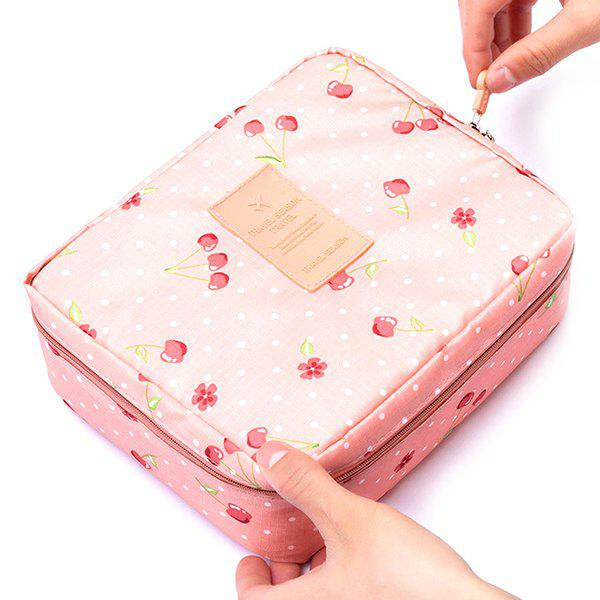 Trendy Portable Multi-layer Cosmetic Bag