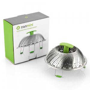 zanmini ZS3 Stainless Steel Collapsible Food Steamer Basket -