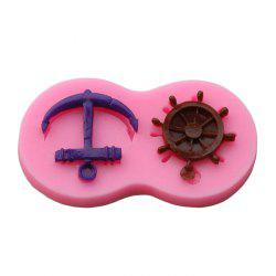 Facemile Anchor Rudder Style Silicone Molds for Cake Decoration -