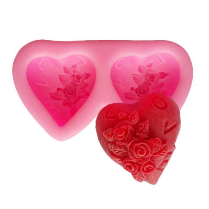 Facemile Double-heart Style Silicone Molds for Cake Decoration