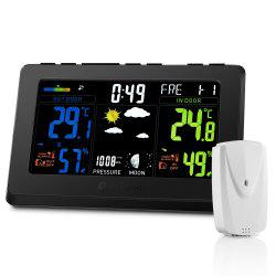 Houzetek S657 Color Weather Station Forecast Temperature Humidity Monitor -