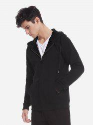 Zip Up Pocket Hooded Sweatshirt -