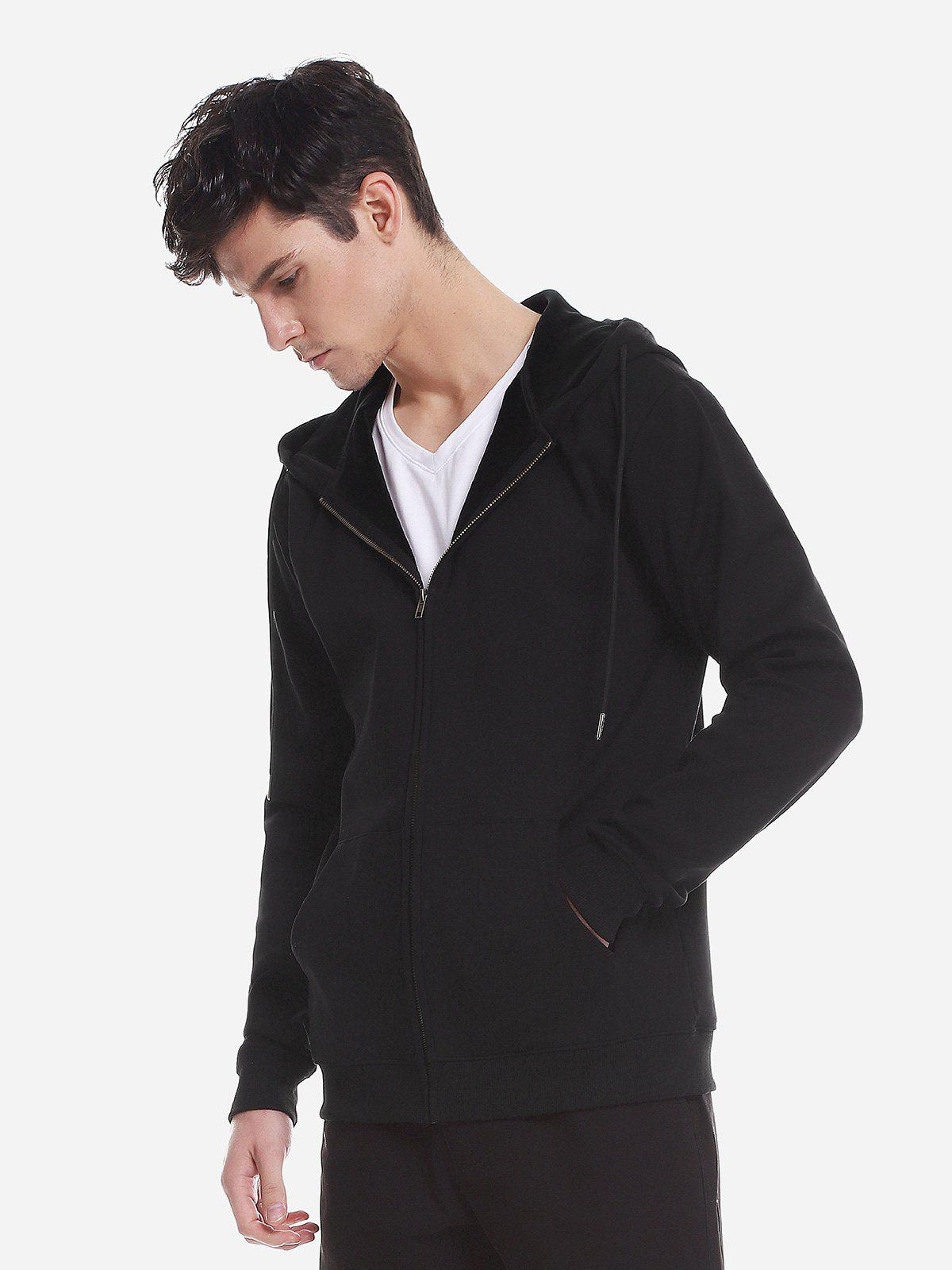 Unique Zip Up Pocket Hooded Sweatshirt