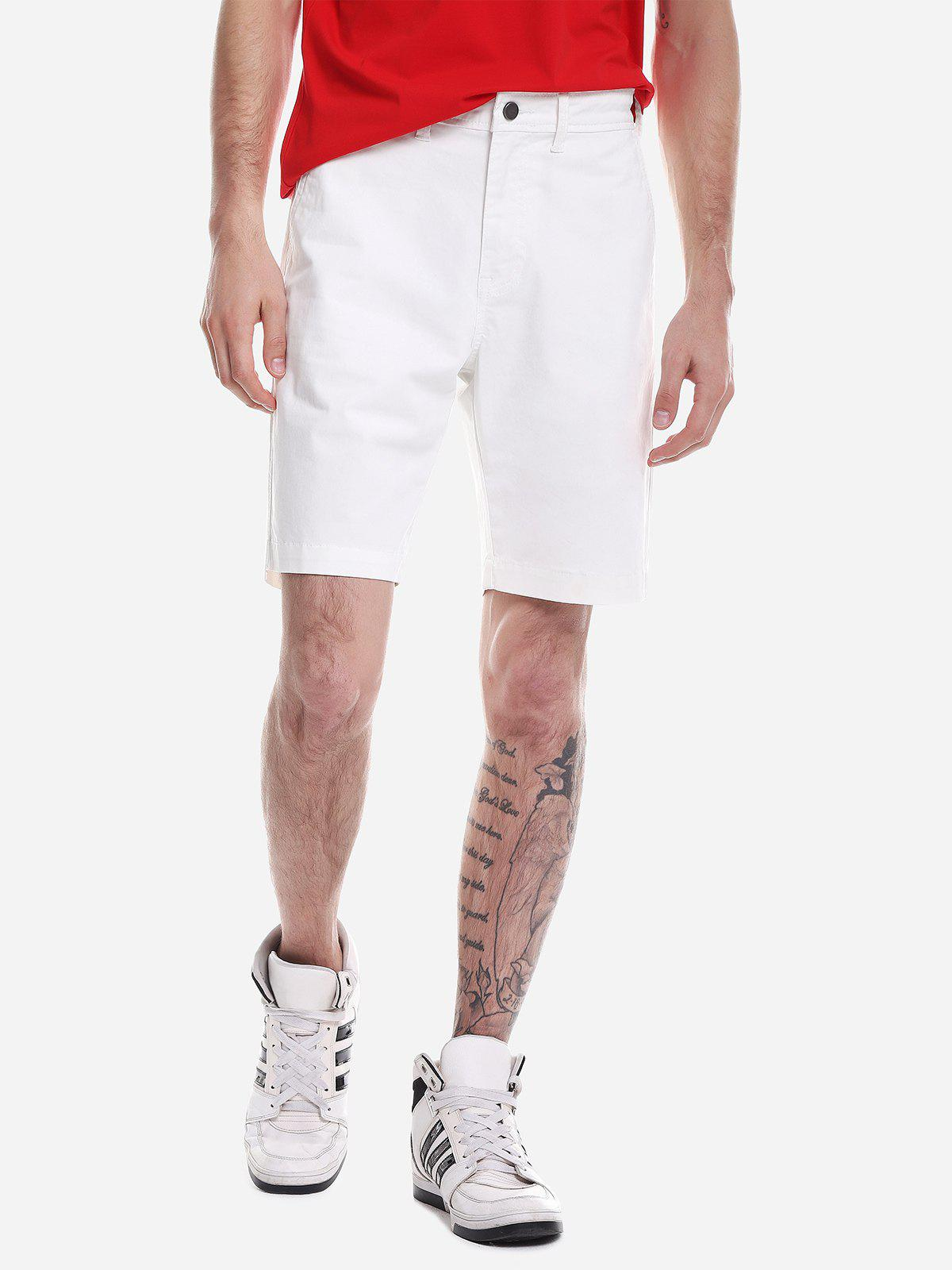 Shorts Zip Fly Blanc 35