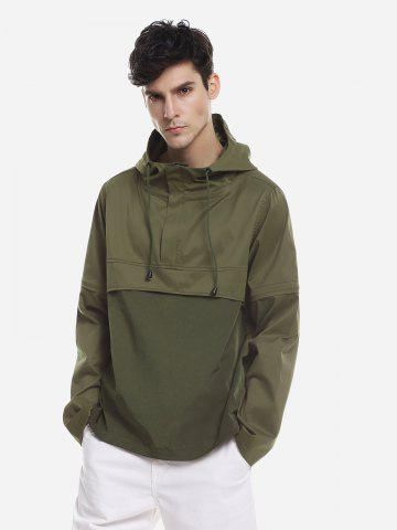 ZAN.STYLE Spliced Windbreaker Jacket - GREEN - 3XL