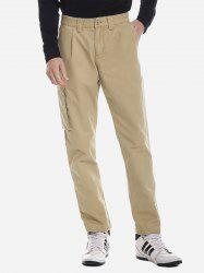 ZANSTYLE Men Side Pocket Belted Pants -