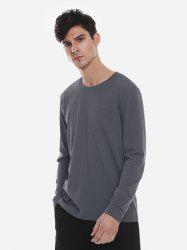 Crew Neck Long Sleeve T Shirt -