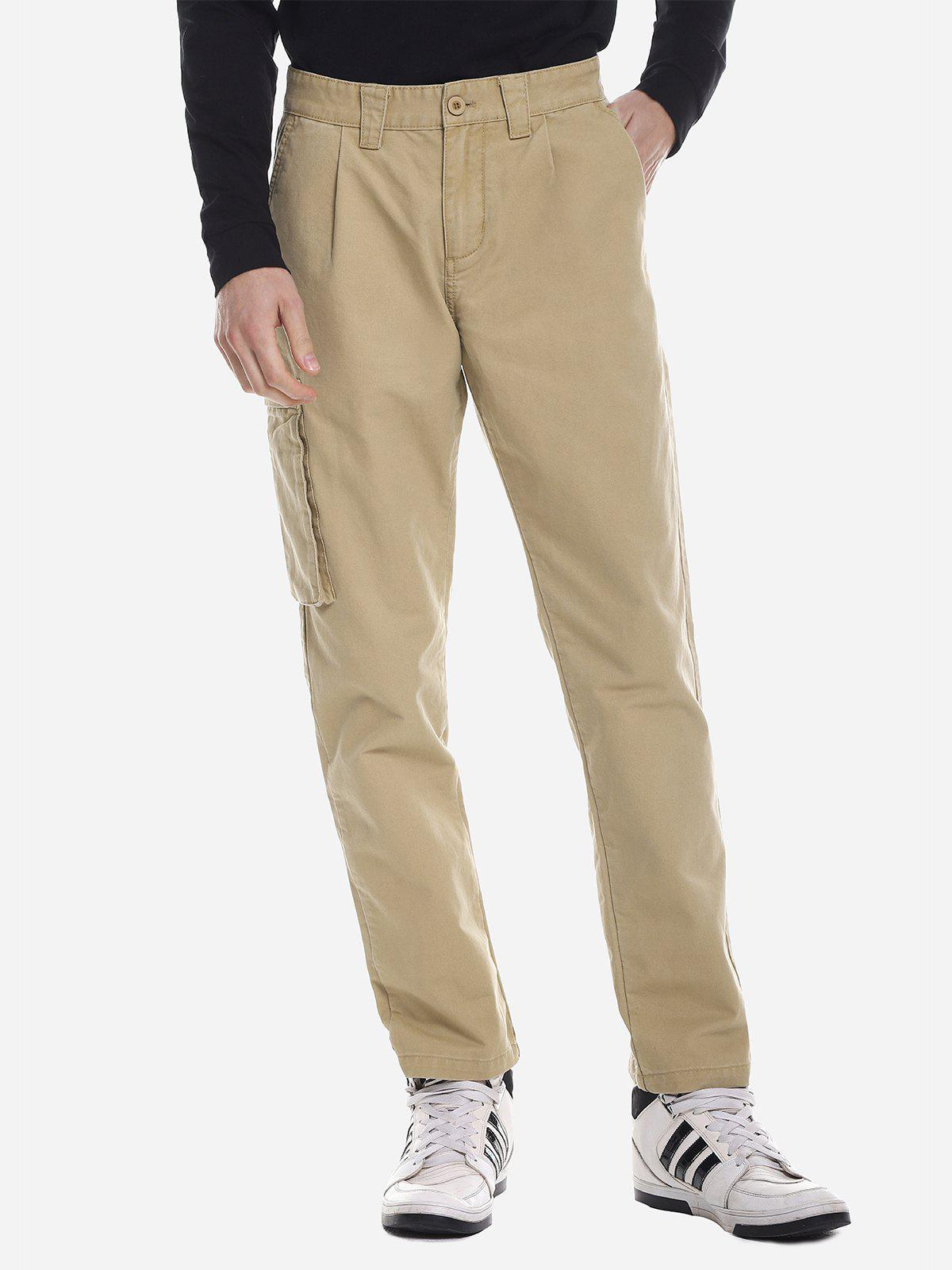 Chic ZANSTYLE Men Side Pocket Belted Pants