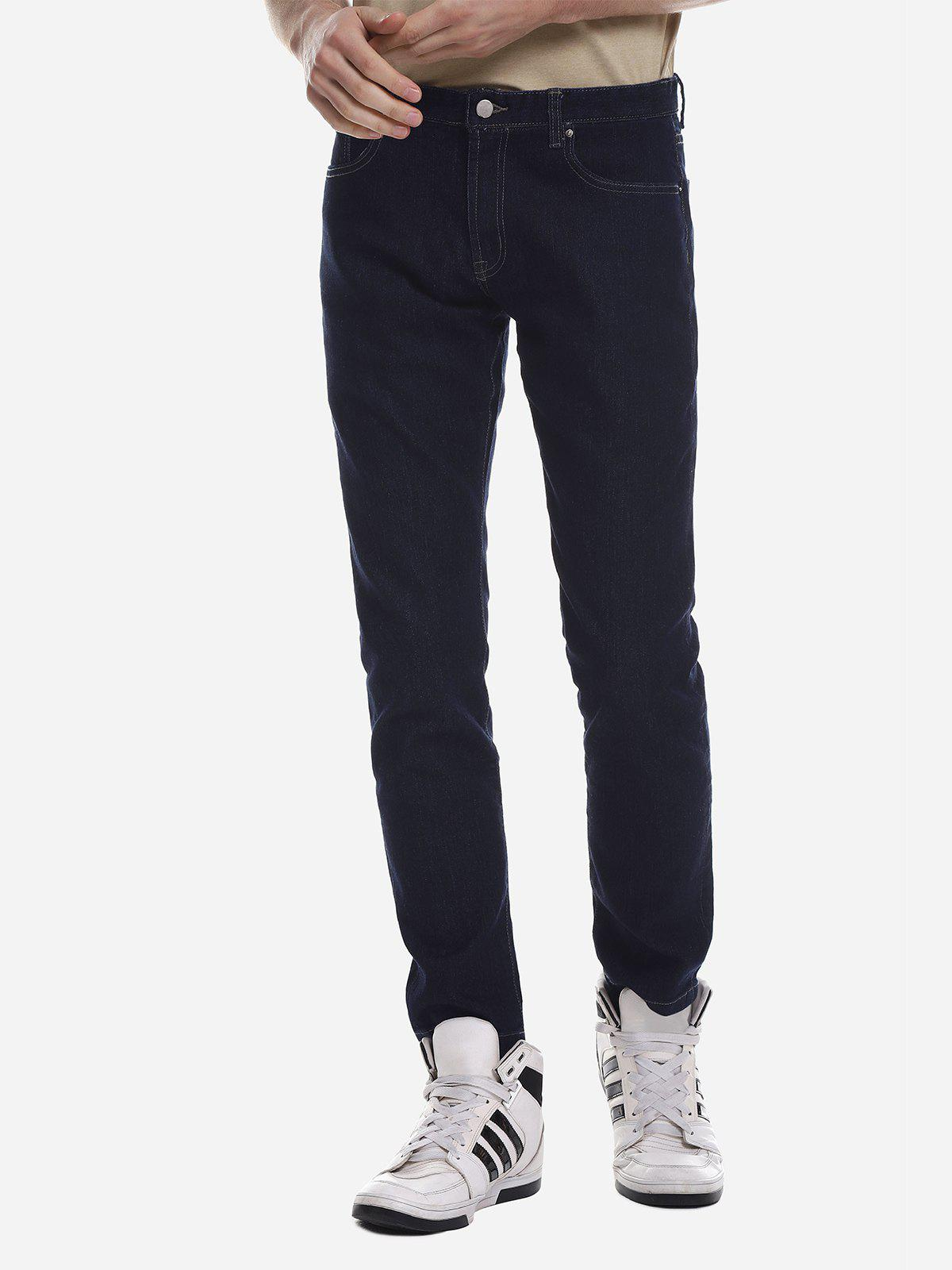 Unique ZANSTYLE Men Stretch Knit Skinny Jeans
