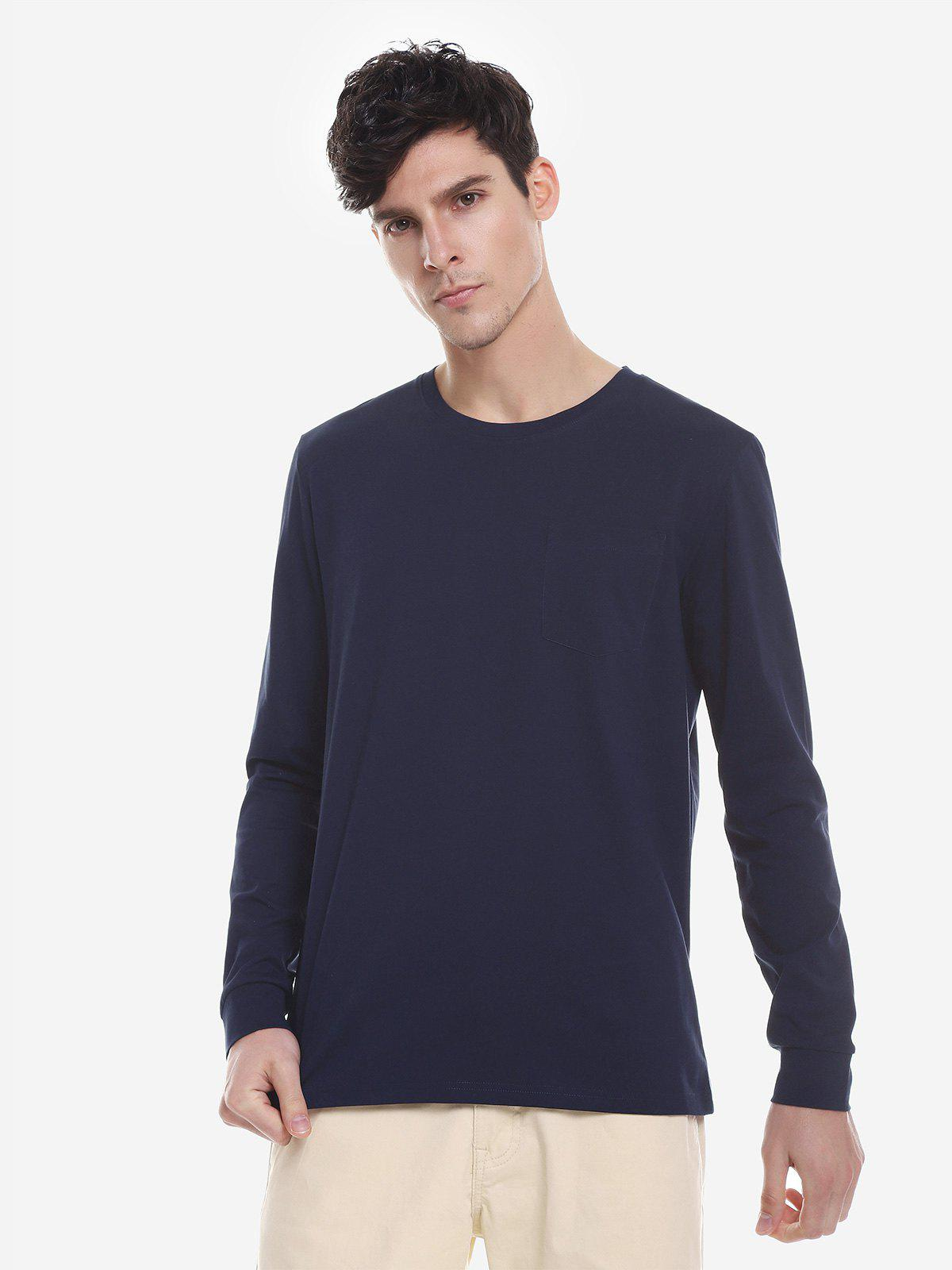 Buy ZAN.STYLE Crew Neck Long Sleeve T Shirt