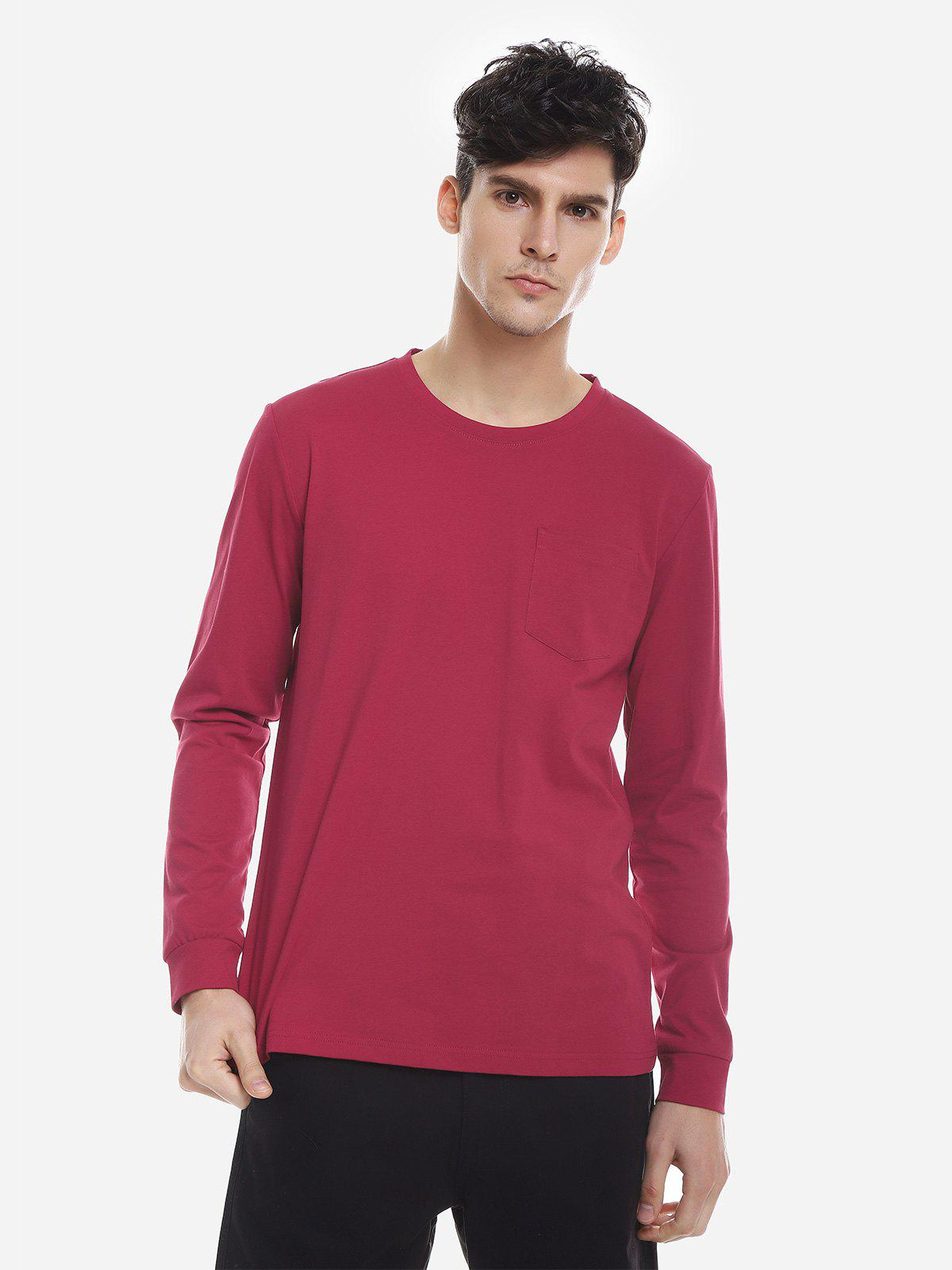 Trendy Crew Neck Long Sleeve T Shirt