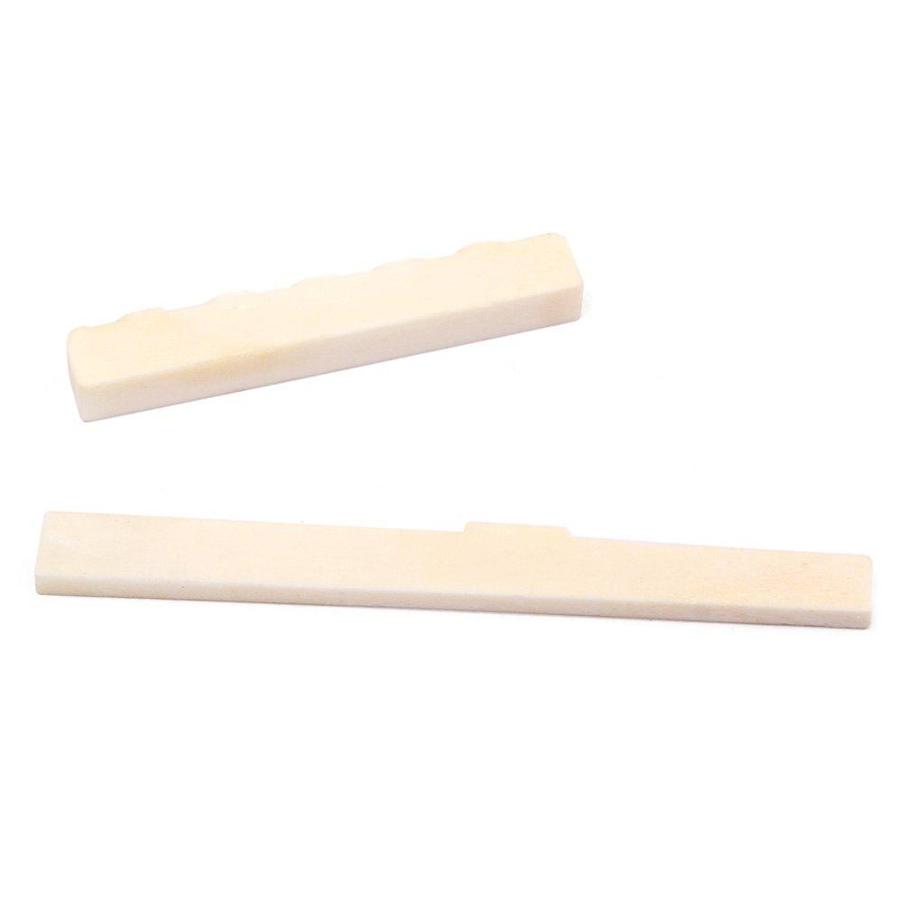 Trendy Classical Guitar Components Bone Saddle Nut 2pcs