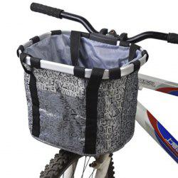 Bicycle Pet Basket Folding Easy-install Detachable Bike Front Cycling Bag -