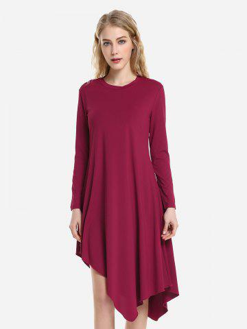 Robe à Manches Longues - WINE RED - L