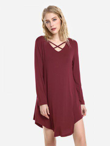 ZAN.STYLE Robe de Balançoire - WINE RED - XL
